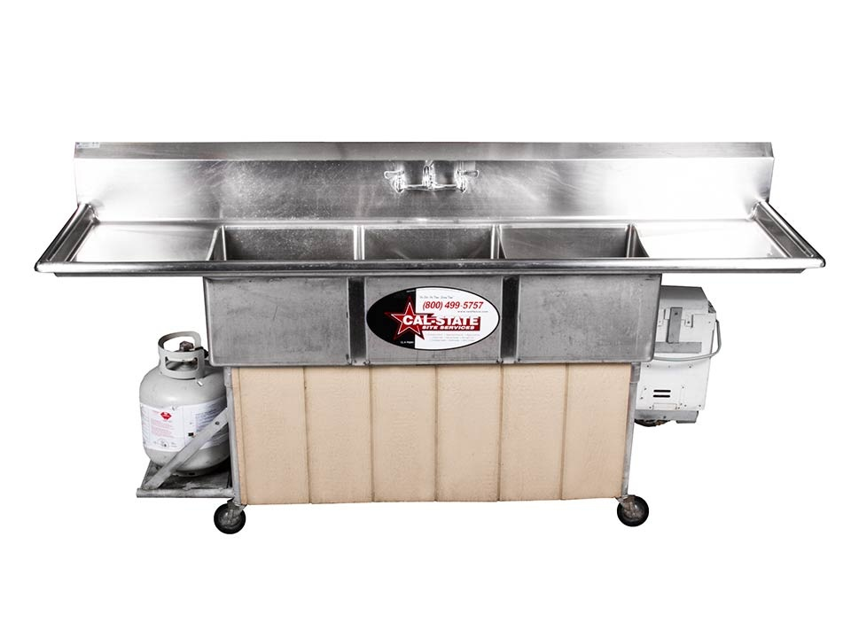 3 compartment hot sink