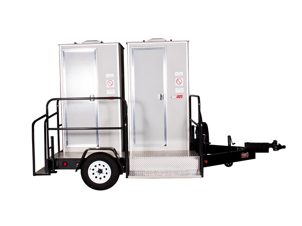 vip toilet trailer rental