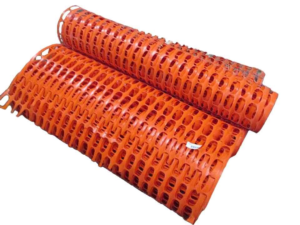 orange plastic fence