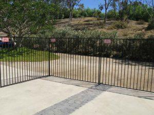iron driveway fence rental
