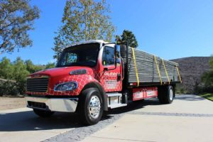 truck delivery temporary fencing