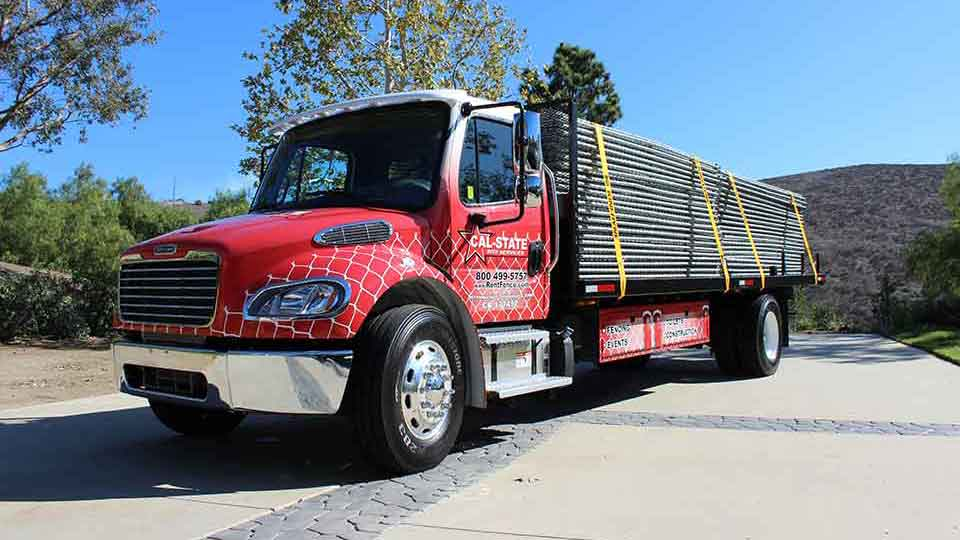 cal-state fence delivery truck
