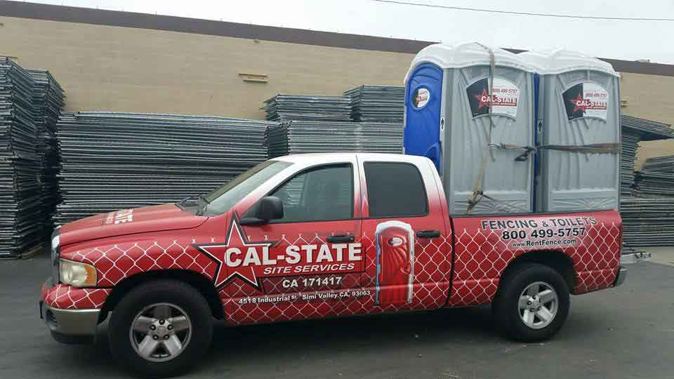 cal-state toilet delivery truck