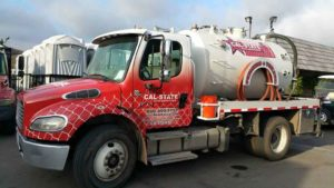 cal-state waste disposal truck