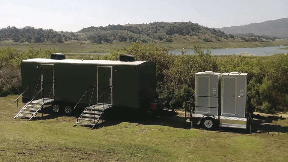 luxury restroom trailer and vip toilet trailer